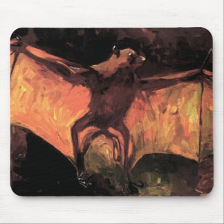 Vincent Van Gogh - Flying Fox - Halloween Fine Art Mouse Pad