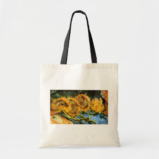Vincent Van Gogh - Four Cut Sunflowers Fine Art Tote Bag