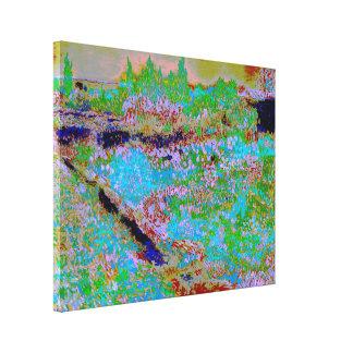 Vincent van Gogh - Garden at Arles (Modified) Canvas Print