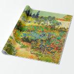 "Vincent Van Gogh Garden at Arles Wrapping Paper<br><div class=""desc"">Vincent Van Gogh Garden at Arles Wrapping Paper</div>"