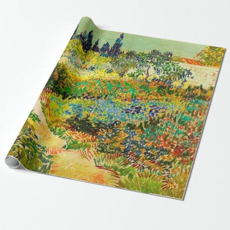 Vincent Van Gogh Garden at Arles Wrapping Paper