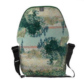 Vincent van Gogh   Garden in Bloom, Arles, 1888 Messenger Bag
