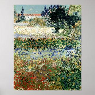 Vincent van Gogh | Garden in Bloom, Arles, 1888 Poster