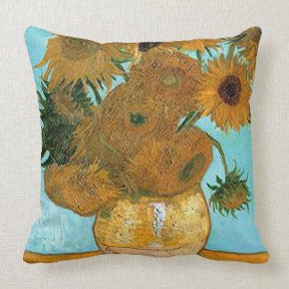 Vincent van Gogh-Girasol Cojín Decorativo