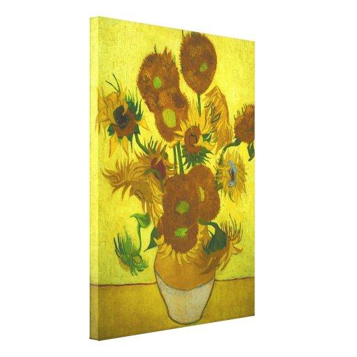Vincent van Gogh - girasoles del florero 12 Impresión De Lienzo