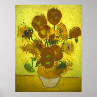 Vincent van Gogh - girasoles del florero 12 Impresiones