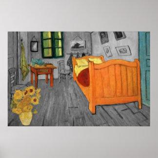 Vincent van Gogh - girasoles en el dormitorio Póster