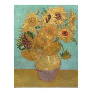 Vincent van Gogh - girasoles Tarjeton