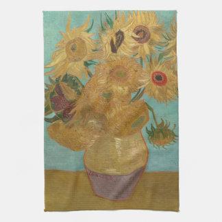 Vincent van Gogh - girasoles Toallas