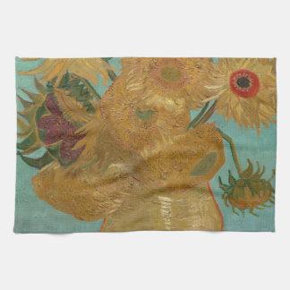 Vincent van Gogh - girasoles Toalla De Mano