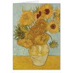 Vincent van Gogh - girasoles Tarjeta De Felicitación