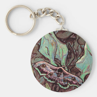 Vincent Van Gogh - Great Peacock Moth Fine Art Keychain