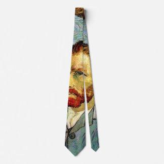 Vincent Van Gogh - Green Self-Portrait Fine Art Neck Tie