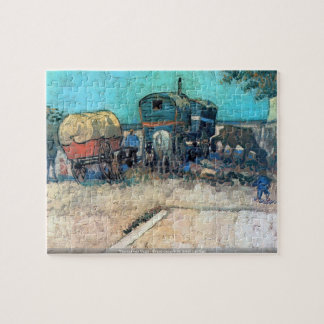 Vincent van Gogh - Gypsy camp with horse carriage Puzzle