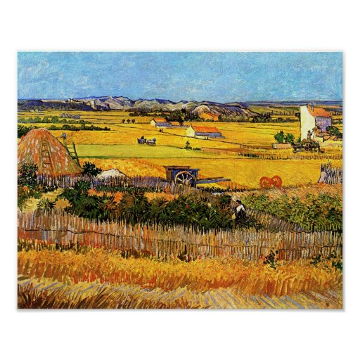 Vincent Van Gogh - Harvest at La Crau Fine Art Poster