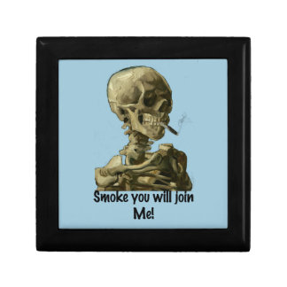 Vincent van Gogh Head Smoke you will join Me Gifts Jewelry Box
