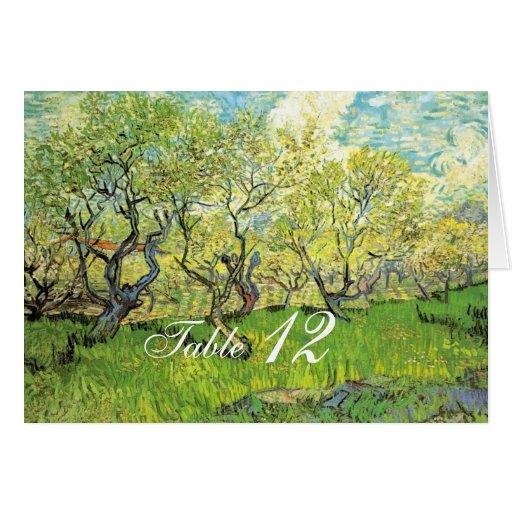 Vincent van Gogh, huerta en flor Tarjeta Pequeña