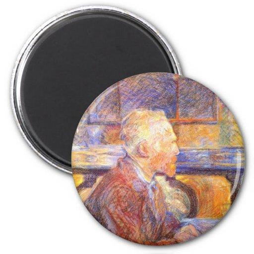 Vincent van Gogh Imán Redondo 5 Cm
