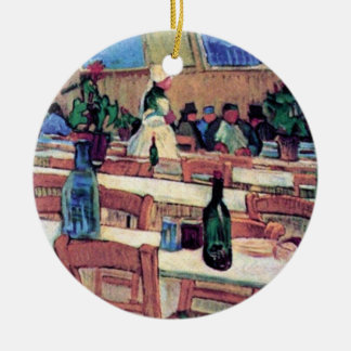 Vincent Van Gogh - Interior Of Restaurant Ceramic Ornament