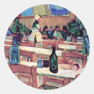 Vincent Van Gogh - Interior Of Restaurant Classic Round Sticker