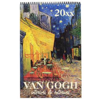 Vincent van Gogh Interiors, Exteriors of Buildings Calendar