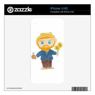 Vincent van Gogh iPhone 4S Calcomanía