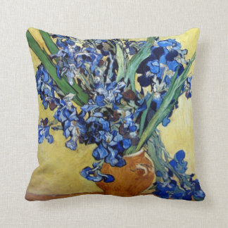 Vincent van Gogh, iris azules Cojín
