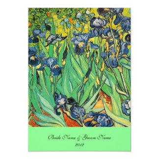 """Vincent van Gogh, iris Invitación 5"""" X 7"""""""