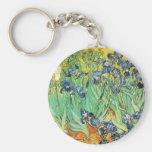 Vincent van Gogh - iris Llavero Redondo Tipo Pin