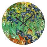 Vincent van Gogh, iris Reloj De Pared