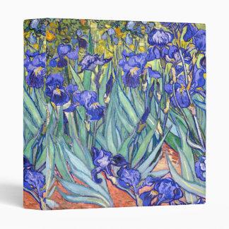 Vincent Van Gogh Irises Floral Vintage Fine Art 3 Ring Binder