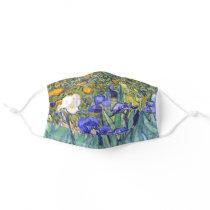 Vincent Van Gogh Irises Floral Vintage Fine Art Adult Cloth Face Mask