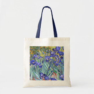 Vincent Van Gogh Irises Floral Vintage Fine Art Budget Tote Bag