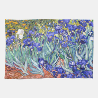 Vincent Van Gogh Irises Floral Vintage Fine Art Hand Towels
