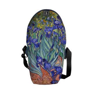 Vincent Van Gogh Irises Floral Vintage Fine Art Courier Bags
