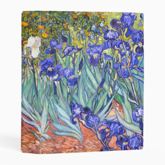 Vincent Van Gogh Irises Floral Vintage Fine Art Mini Binder
