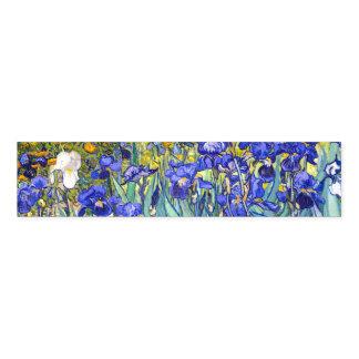 Vincent Van Gogh Irises Floral Vintage Fine Art Napkin Band