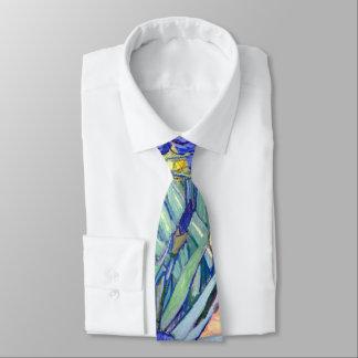 Vincent Van Gogh Irises Floral Vintage Fine Art Neck Tie