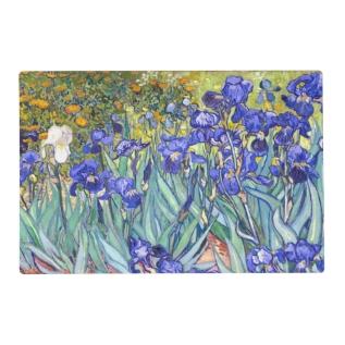 Vincent Van Gogh Irises Floral Vintage Fine Art Placemat at Zazzle