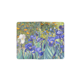 Vincent Van Gogh Irises Floral Vintage Fine Art Pocket Moleskine Notebook