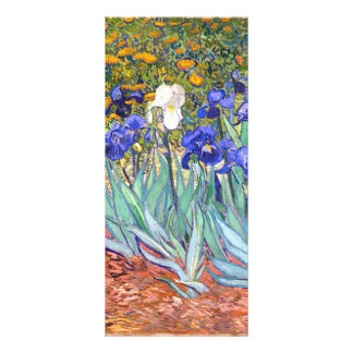Vincent Van Gogh Irises Floral Vintage Fine Art Rack Card