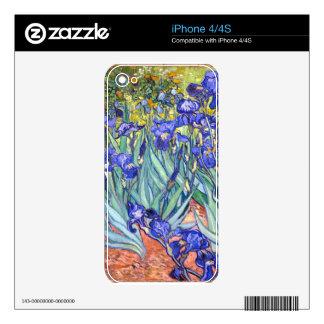 Vincent Van Gogh Irises Floral Vintage Fine Art iPhone 4 Decals