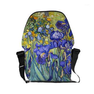 Vincent Van Gogh Irises Floral Vintage Fine Art Small Messenger Bag