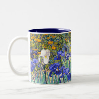 Vincent Van Gogh Irises Floral Vintage Fine Art Two-Tone Coffee Mug