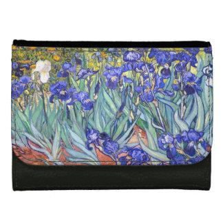 Vincent Van Gogh Irises Floral Vintage Fine Art Wallets