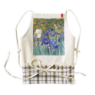 Vincent Van Gogh Irises Floral Vintage Fine Art Zazzle HEART Apron