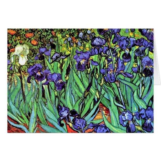 Vincent Van Gogh - Irises - Flower Lover Fine Art Card