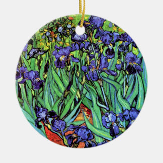 Vincent Van Gogh - Irises - Flower Lover Fine Art Ceramic Ornament