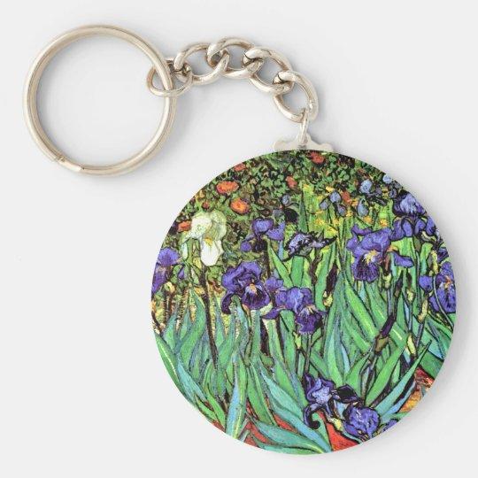 Vincent Van Gogh - Irises - Flower Lover Fine Art Keychain