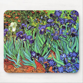 Vincent Van Gogh - Irises - Flower Lover Fine Art Mouse Pad